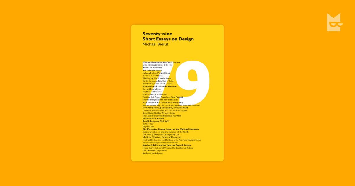 seventy-nine short essays on design epub