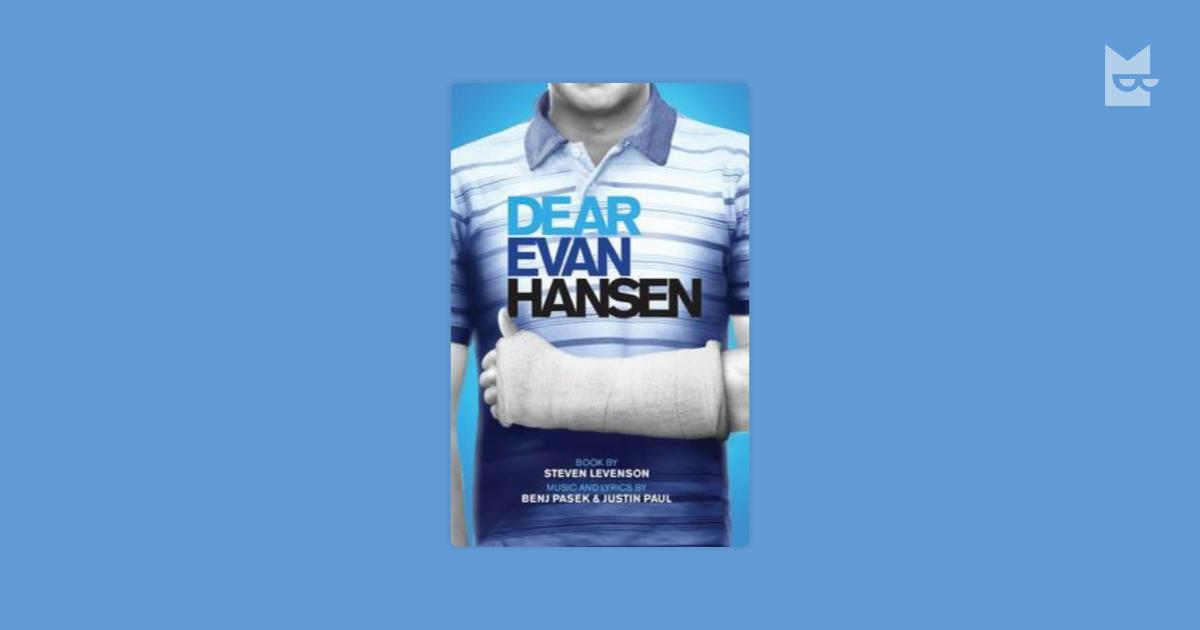 Dear Evan Hansen Tcg Edition Steven Levenson Читать