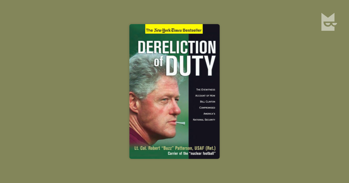 dereliction of duty essays Free essays on dereliction of duty for students use our papers to help you with yours 1 - 30.