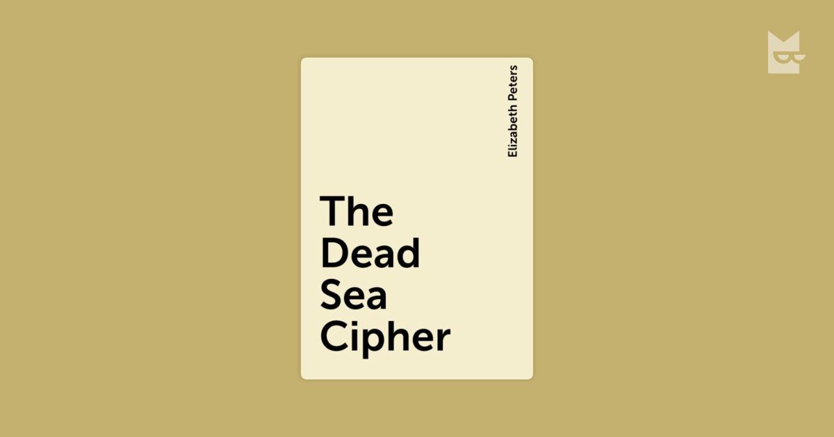the dead sea cipher peters elizabeth
