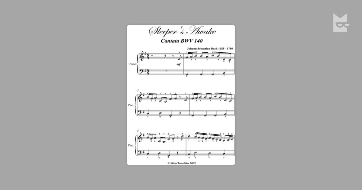 Sleeper's Awake Cantata Bwv 140 Easy Piano Sheet Music by
