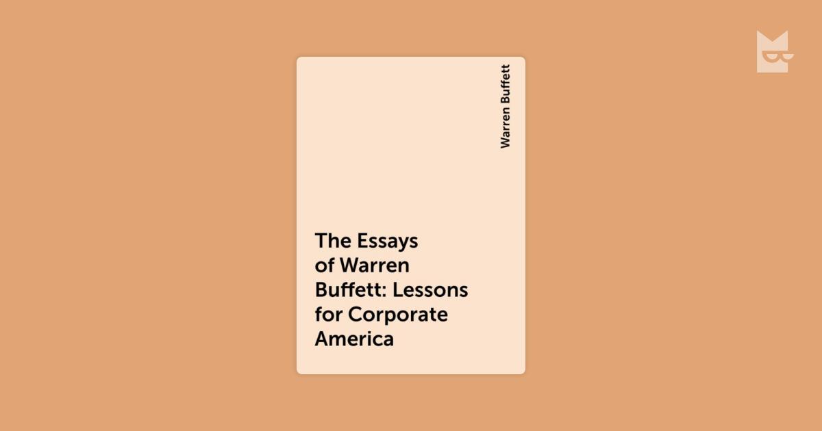 the essays of warren buffet