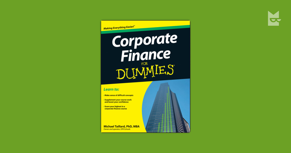 corporate finance formulas Finance-formula - corporate finance formula time value of this preview shows document pages 1 - 2 sign up to view the full document.