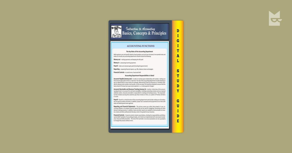 basic accounting principles concepts