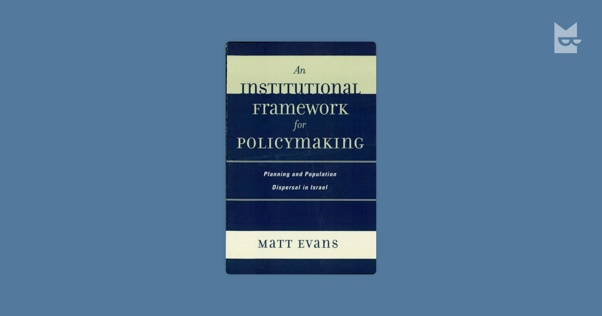 institutional framework jitto paul james James irvine of university of strathclyde, glasgow with expertise in this regulatory gridlock is due to resistance from current institutional framework.