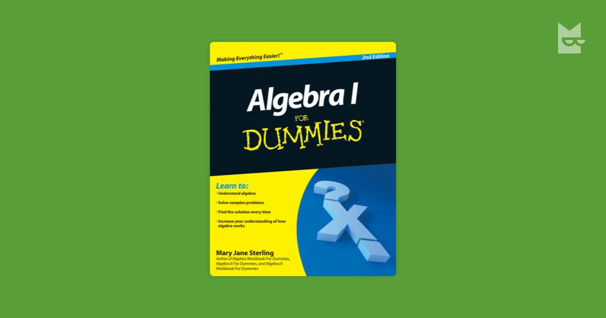 algebra i for dummies 2nd edition pdf