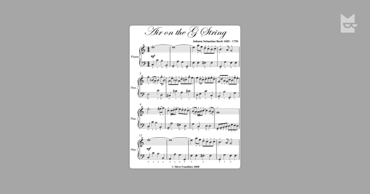 Bach Air On G String