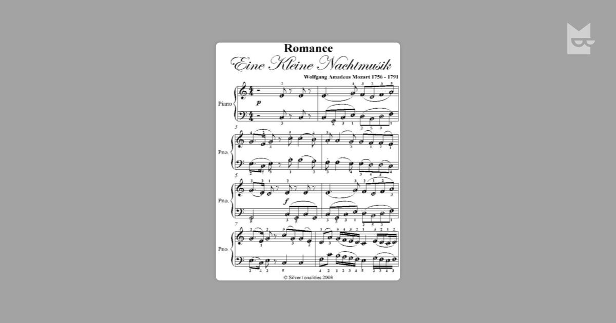 "Romance Eine Kleine Nachtmusik Easy Piano Sheet Music"" by Wolfgang ..."